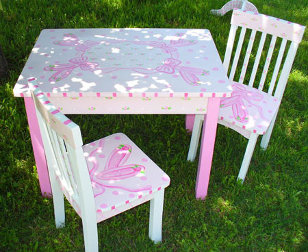 Table and Chair Set – Girls Table and Chair