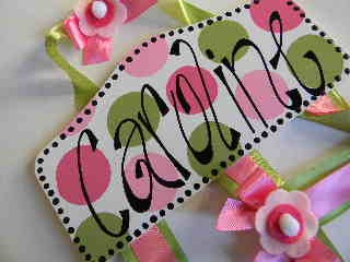 Plaque Hair Bow Holders Caroline-plaque hair bow holders, hair bows, hair bow holders, tutu, tooth fairy pillows, headbands, pendants, charms, hairbow, hairbow holder, barrette holder, personalize hair bow holder, hairbows, ballerina bow holder, ballet bow holder, animal print bow holder, tooth pillow, party hats, birthday party hat, 1st birthday party hat, 1st birthday