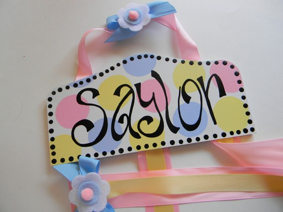 Plaque Hair Bow Holders Saylor-plaque hair bow holders