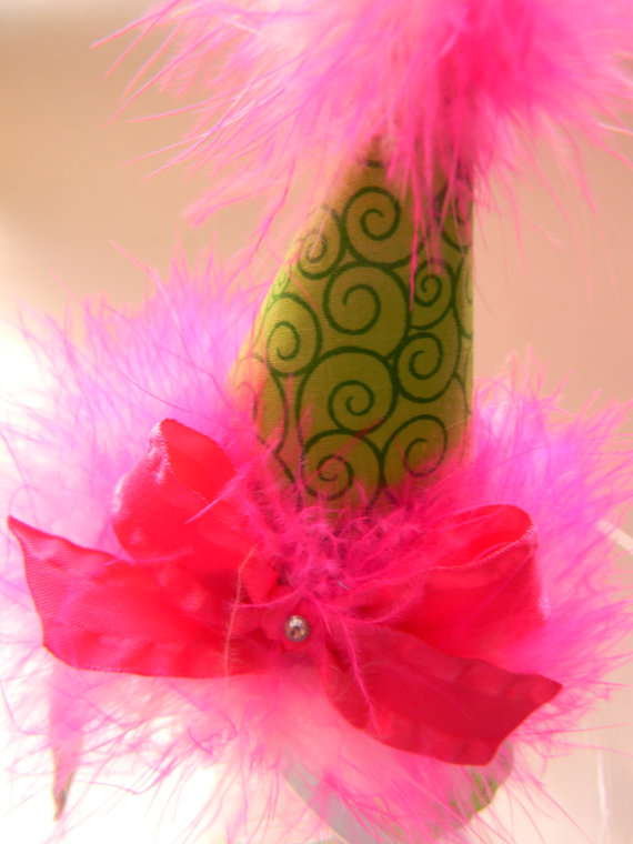Headband Lime Swirl Party Hat-birthday party hats