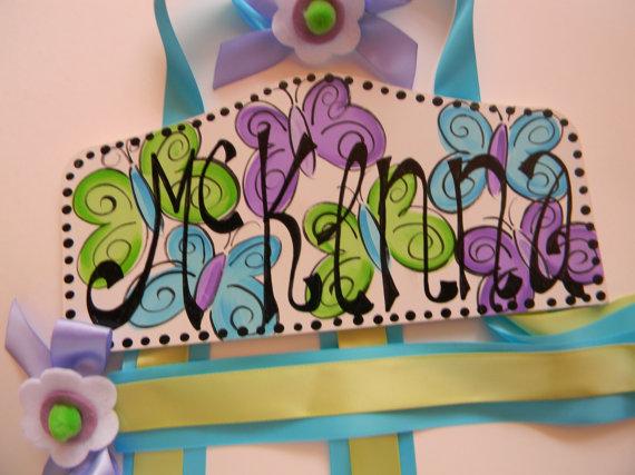 Plaque Hair Bow Holders McKenna-plaque hair bow holder