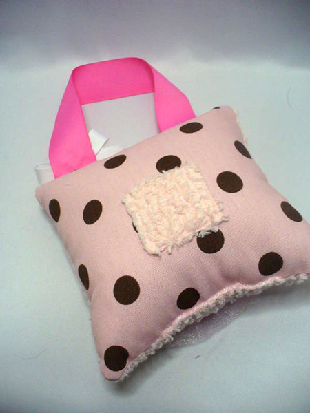 Girls Tooth Fairy Pillow Pink & Brown Dot-Tooth Fairy Pillows, hair bows, hair bow holders, tutu, tooth fairy pillows, headbands, pendants, charms, hairbow, hairbow holder, barrette holder, personalize hair bow holder, hairbows, ballerina bow holder, ballet bow holder, animal print bow holder, tooth pillow, party hats, birthday party hat, 1st birthday party hat, 1st birthday