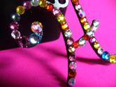 Sparkling Swarovski Crystal Encrusted Initial Letter Pendants-Pendants, Charms