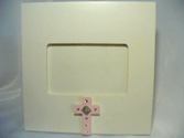 Cream Frame with Cross-children picture frames