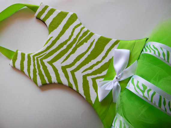 Tutu Bow Holder Fabric Green Zebra-tutu bow holders, hair bows, hair bow holders, tutu, tooth fairy pillows, headbands, pendants, charms, hairbow, hairbow holder, barrette holder, personalize hair bow holder, hairbows, ballerina bow holder, ballet bow holder, animal print bow holder, tooth pillow, party hats, birthday party hat, 1st birthday party hat, 1st birthday