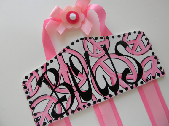 Plaque Hair Bow Holders Bows Pink Peace-plaque hair bow holder, hair bows, hair bow holders, tutu, tooth fairy pillows, headbands, pendants, charms, hairbow, hairbow holder, barrette holder, personalize hair bow holder, hairbows, ballerina bow holder, ballet bow holder, animal print bow holder, tooth pillow, party hats, birthday party hat, 1st birthday party hat, 1st birthday