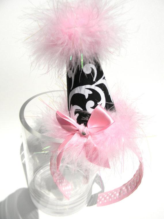 Headband MariJane with Light Pink Party Hat-birthday party hats