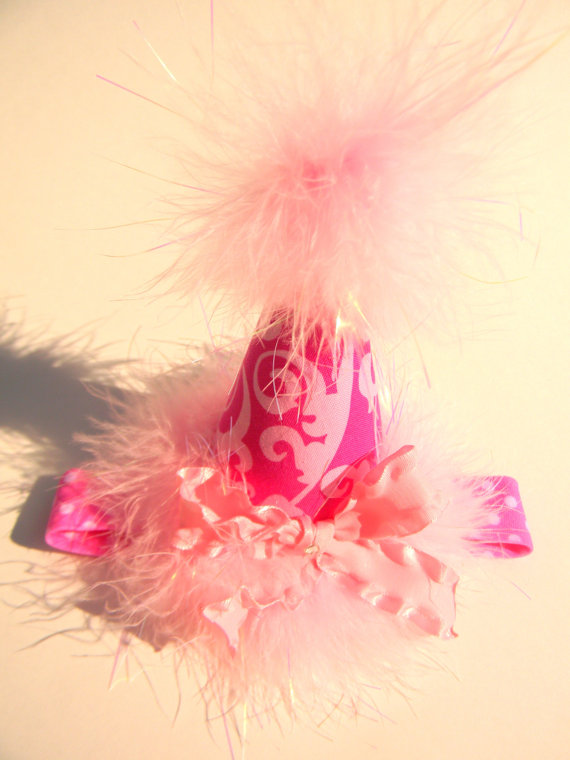 Headband Pink Swirl Party Hat-birthday party hats