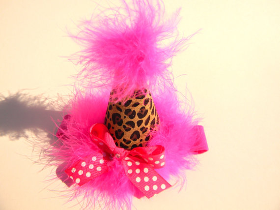Headband Hot Pink Cheetah Party Hat-birthday party hats
