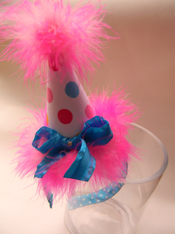 Headband Happy Polka dots Birthday Hat-birthday party hats