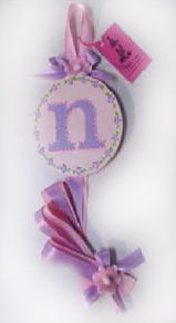 Pink Floral with Lavender Initial Hair Bow Holder-hair bow holder, hair bows, hair bow holders, tutu, tooth fairy pillows, headbands, pendants, charms, hairbow, hairbow holder, barrette holder, personalize hair bow holder, hairbows, ballerina bow holder, ballet bow holder, animal print bow holder, tooth pillow, party hats, birthday party hat, 1st birthday party hat, 1st birthday
