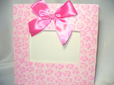 Pink Cheetah Painted Frame-