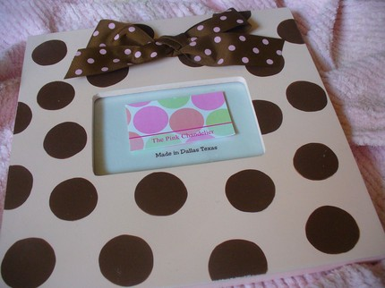 Pink and Chocolate Dots-Frame-children picture frames