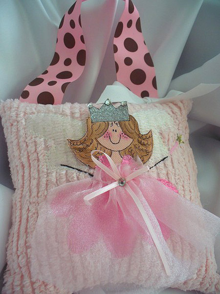 Girls Tooth Fairy Pillow Pink & Brown Damask-Tooth Fairy Pillows, hair bows, hair bow holders, tutu, tooth fairy pillows, headbands, pendants, charms, hairbow, hairbow holder, barrette holder, personalize hair bow holder, hairbows, ballerina bow holder, ballet bow holder, animal print bow holder, tooth pillow, party hats, birthday party hat, 1st birthday party hat, 1st birthday